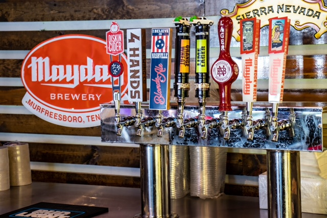 beer taps at murfreesboro axe